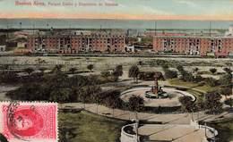 Argentine Buenos Aires Parque Colon Y Depositos De Aduana Timbre + Cachet 1917 - Argentinien