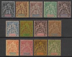Océanie - 1892 - N°Yv. 1 à 13 - Série Complète - Neuf * / MH VF - Neufs