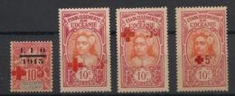 Océanie - 1915 - N°Yv. 39 - 40 - 41 - 42 - Croix Rouge - Neuf Luxe ** / MNH / Postfrisch - Océanie (Établissement De L') (1892-1958)