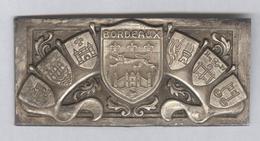 Plaque Emboutie Armes De Bordeaux - Autres