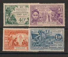 Océanie - 1931 - N°Yv. 80 à 83 - Série Complète - Exposition Coloniale - Neuf Luxe ** / MNH / Postfrisch - Oceania (1892-1958)