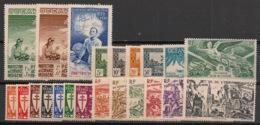 Océanie - 1942 - Poste Aérienne PA N°Yv. 4 à 25 - Complet 22 Valeurs - Neuf Luxe ** / MNH / Postfrisch - Océanie (Établissement De L') (1892-1958)