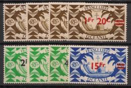 Océanie - 1945 - N°Yv. 172 à 179 - Série Complète - Neuf Luxe ** / MNH / Postfrisch - Océanie (Établissement De L') (1892-1958)