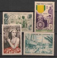 Océanie - 1950-56 - N°Yv. 201 à 204 - Complet - 4 Valeurs - Neuf Luxe ** / MNH / Postfrisch - Oceania (1892-1958)