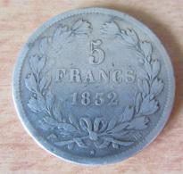 Monnaie En Argent 5 Francs Louis Philippe 1832 BB (Strasbourg) - France