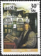 IRELAND 2001 Literary Anniversaries - 30p Archbishop Narcissus Marsh & Library Interior (300th Anniv) FU - Oblitérés