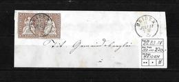1854-1862 Helvetia (Ungezähnt) Strubel → Brieffragment HEIDEN   ►SBK-22B3.IV Im Paar◄ - Lettres & Documents