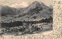 ADELBODEN Und WILDSTRUBEL SWITZERLAND-PANORAMA-GABLER 1901 PHOTO POSTCARD 40499 - BE Bern