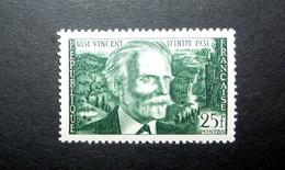 FRANCE 1951 N°890 * (VINCENT D'INDY. 25F VERT FONCÉ) - Unused Stamps