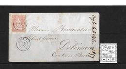 1854-1862 Helvetia (Ungezähnt) Strubel → 1857 Umschlag AIGLE Nach Delémont  ►SBK-24B3.III◄ - 1854-1862 Helvetia (Non-dentelés)