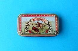"HIGNETT'S "" WILD WEST "" TOBACCO - Vintage Tin Box * Tabak - Tabaksdozen (leeg)"