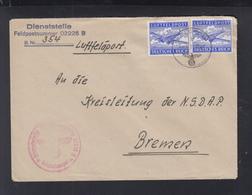 Dt. Reich Feldpost 1944 02225 B Nach Bremen - Briefe U. Dokumente
