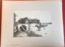LA BUGUE CHALET DE COCAGNE VILLA TUILIERE LE CANAL ET LA DORDOGNE 24 GRANDE PHOTOGRAPHIE 1900 - France
