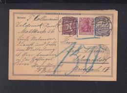Dt. Reich  PK 1923 Porto Kontrolle Schwandorf - Storia Postale