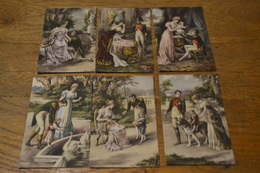 Carte Postale 1910 Lot De 6 Cartes Le Roi De Rome Napoléon Et Sa Famille Luxographie - Hommes Politiques & Militaires