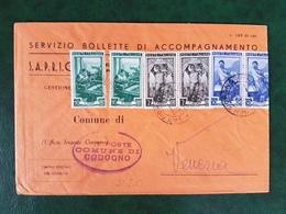 (36638) STORIA POSTALE ITALIA 1951 - 1946-.. République