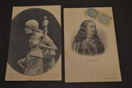 Carte Postale 1910 2 Cartes Sur Jeanne D'arc - Femmes Célèbres