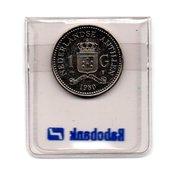 NEDERLANDSE ANTILLEN 1 GULDEN 1980 BEATRIX UNC. - Antille Olandesi
