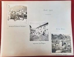 7 PHOTOS LE LAC BLANC DEJEUNER A LA FLEGERE CHAMONIX MONT-BLANC ALPINISTE MONTAGE HAUTE-SAVOIE ALPINISME AOUT 1917 - Chamonix-Mont-Blanc