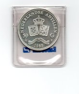 NEDERLANDSE ANTILLEN 50 GULDEN 1980 BEATRIX ZILVER UNC - Netherland Antilles