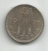 Rhodesia 2 1/2 Cents 1970. - Rhodesia