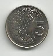 Cayman Islands 5 Cents 1990. High Grade - Cayman Islands