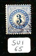 SUI SBK Taxe 3 Type II (K) En Obl - Taxe