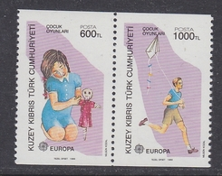 Europa Cept 1989 Northern Cyprus 2v From Booklet ** Mnh (42633A) - 1989