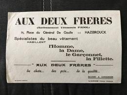 BUVARD ANCIEN AUX DEUX FRÈRES HAZEBROUCK NORD - Textile & Clothing