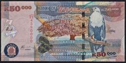Zmb081 ZAMBIA 2010, 50000 Kwacha Banknote, (JH Serial Numbers) Unc - Zambia