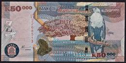 Zmb078 ZAMBIA 2009, 50000 Kwacha Banknote, (JF Serial Numbers) Unc - Zambia