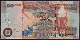 Zmb069 ZAMBIA 2006, 20000 Kwacha Banknote, (HF Serial Numbers) Unc - Zambia
