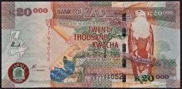 Zmb065 ZAMBIA 2003, 20000 Kwacha Banknote, (HB Serial Numbers) Unc - Sambia