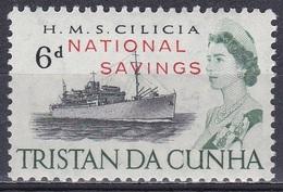 Tristan Da Cunha 1970 Fiskalmarke Transport Seefahrt Seafare Schiffe Ships Cilicia Geldwesen Sparen Saving, Mi. 1 ** - Tristan Da Cunha