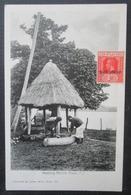 Fiji Fidji Beating Natives Drum  Timbrée War Stamp - Fidji