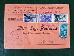 (36655) STORIA POSTALE ITALIA 1952 - 1946-.. République