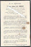 Nauroy - Nantes : Image Mortuaire Soldat OBERT Pierre Jules J Bte (guerre 1914/1918) 91ème Régiment Infanterie - Décès