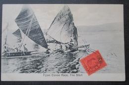 Fiji Fidji Fijian Canoe Race Cpa   Timbrée - Fiji