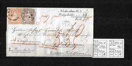 1854-1862 Helvetia (Ungezähnt) Strubel → 1861 Nachnahme-Brief AARAU Nach Subingen   ►SBK-25B4.V Und 22B4.V◄ - Lettres & Documents