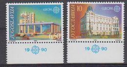 Europa Cept 1990 Yugoslavia  2v (+margin) ** Mnh (42633E) - 1990