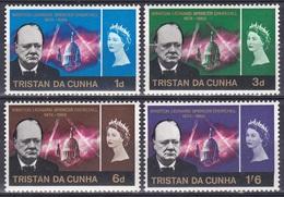 Tristan Da Cunha 1966 Geschichte History Persönlichkeiten Politiker Politicians Literatur Nobel Churchill, Mi. 92-5 * - Tristan Da Cunha