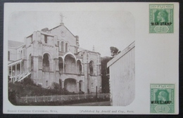 Fiji Fidji Suva Catholic Cathedral  Cpa   Timbrée War Stamp - Figi