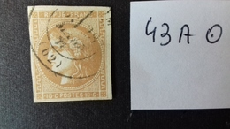 FRANCE 43A Oblitéré - 1870 Bordeaux Printing