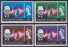 Tristan Da Cunha 1966 Geschichte History Persönlichkeiten Politiker Politicians Literatur Nobel Churchill, Mi. 92-5 ** - Tristan Da Cunha