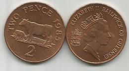 Guernsey 2 Pence 1985. - Guernsey