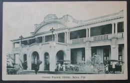 Fiji Fidji Suva Grand Hotel Pacific  Cpa   Timbrée - Fidji