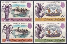 Tristan Da Cunha 1970 Wirtschaft Economy Langustenindustrie Langusten Crawfish Industry Nahrungsmittel, Mi. 137-0 ** - Tristan Da Cunha