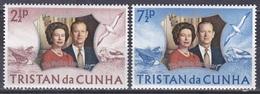 Tristan Da Cunha 1972 Geschichte History Persönlichkeiten Königshäuser Royals Königin Elisabeth Philip, Mi. 178-9 ** - Tristan Da Cunha