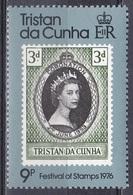 Tristan Da Cunha 1976 Geschichte History Persönlichkeiten Königshäuser Royals Königin Elisabeth Philatelie, Mi. 207 ** - Tristan Da Cunha