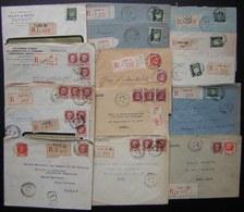 Paris Lot De 15 Lettres Recommandées Des Années 1940, Différents Bureaux Timbres Pétain, Voir Photo - 1921-1960: Période Moderne